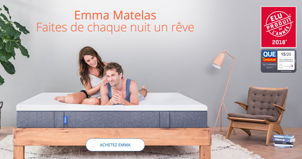 le matelas emma a t r compens partout en europe. Black Bedroom Furniture Sets. Home Design Ideas